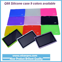 Cheapest price Tablet pc rubber case soft silicone case for 7inch A33, A23, A13 q88 tablet in China
