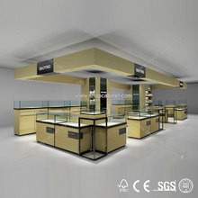 High quality modern jewelry display showcase for mall jewelry showcase stand store fixtures