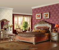 High Quality European Style None-woven Damask Wallpaper