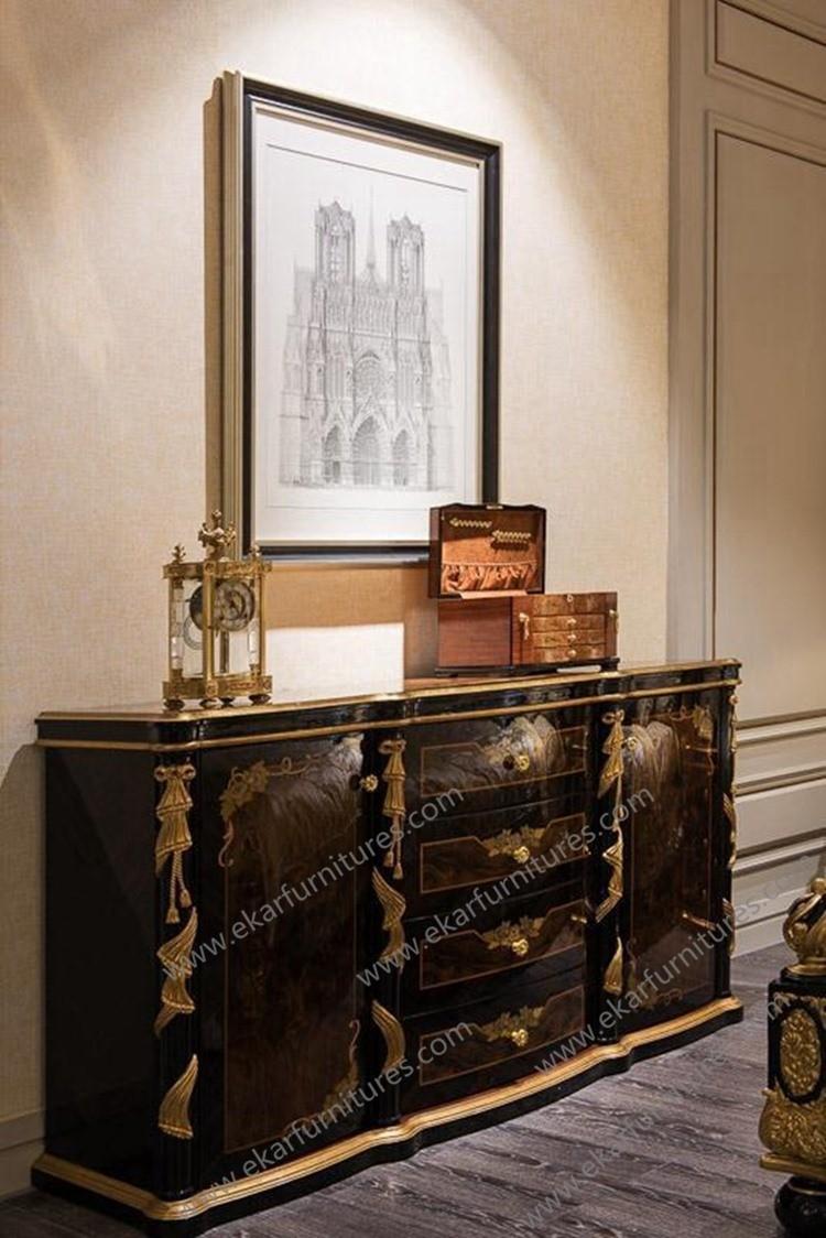 Meubles salon moderne chinois vitrine et antique console table ...