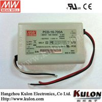 Meanwell 16w 1400mA constant current led transformer PCD-16-1400