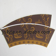 hot sale paper cup fan /disposable paper cup fans/printed paper cup wall / cup fans pre-cutted and pre-printed