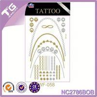 Metallic Tattoo Sticker /Foil Tattoo,Non-Toxic Body Temporary Tattoo Sticker,Road Sign Sticker/Reflective Film