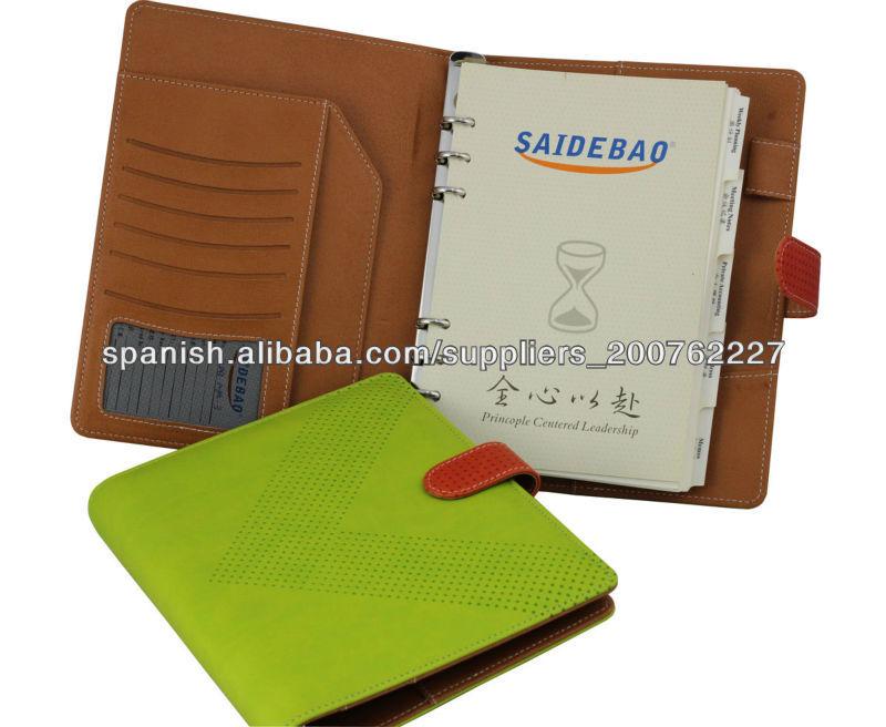 2013 personalizado anillas a5 notebook