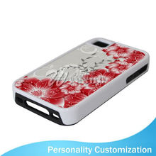 2D Sublimation Blank Phone Case for Iphone 4 aluminum cell phone case for Iphone