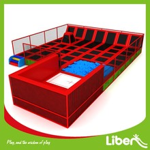 Children Entertainment Equipment 300 Square Meters Indoor Trampoline Court with Enclosure