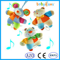 Baby soft plush bear toy baby bed hanging musical mobile toy baby toys