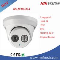 2016 newest Original English version 3mp ip camera Hikvision cctv camera dome ip camera with ir 30M
