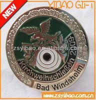 Mountain range metal lapel pin Safety pin back badge pin