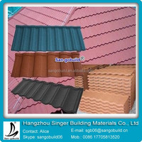 2015 Hot sale in Africa of stone coated metal roof tile with high quality