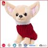 Cute mini plush dog chihuahua toy dressed