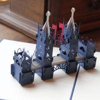 Blue London Bridge Handmade Laser Cutting Card Bulk 3D pop up Custom Greeting Card for Birthday Gifts Postcard Wholesale 3050B