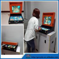 2 players go fishing kids coin operated mini game machine