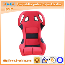 Good Sitting and Hot Style Silver FRP Back Racing Car Seat With Rails(Bigger Size is Available)