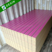 Hot Sale Melamine Faced MDF Slatwall Panels with Thickness from 15mm to 25mm
