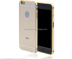 """China manufacturer custom logo metal frame bumper case for IPhone 6 4.7"""" with PC case stick"""