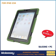 dustproof fold leather case for ipad 2 3 4