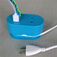 Wholesale AC Power Multi Adapter Travel Wall Charger 3 port USB charger for cellphone with 1.5M cable