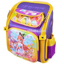 2015 3D encantadores Winx Club Cartoon niños mochila chica and Boys School bolsas