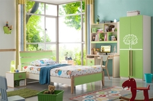 (Promotion!!!)2014 nice design lovely colorful kids home bedroom furniture for boys and girl.green color