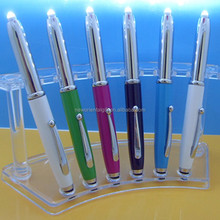 LED Touch Metal Ballpoint Pen