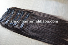 Factory supply cheap 100% hair extension, clip in hair extension for black women