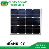 high quality 50W monocrystalline solar panel module