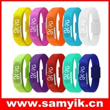2015 New Design LED Watches Women Fashion Sport Watch Silicone Candy Multicolor Touch Screen Digital Sport Watch Ladies