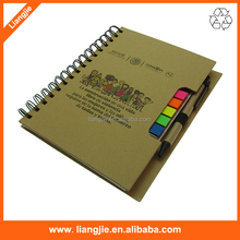 Spiral Kraft Hardcover Notebook Flags &Eco Mini pad Sticky note pad