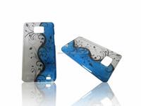 Flower 3D Ultra Slim Raindrop Crystal Hard Case For samsung galaxy s2 i9100