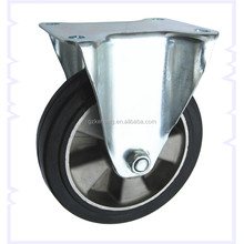 """6""""/7""""/8"""" fixed rubber caster wheel,160mm Europe standard Aluminum casters,wheels and casters"""