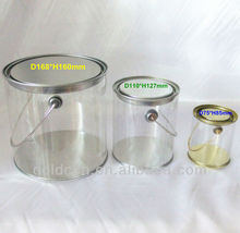 clear pvc plastic paint tin cans