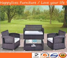 2015 Hotsale Courtyard wicker/rattan sofa furniture