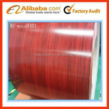 Wood grain color coated galvanized steel coil