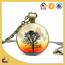 Tree Glowing Necklace, Tree of Life Necklace Jewelry Art Photo Print Pendant
