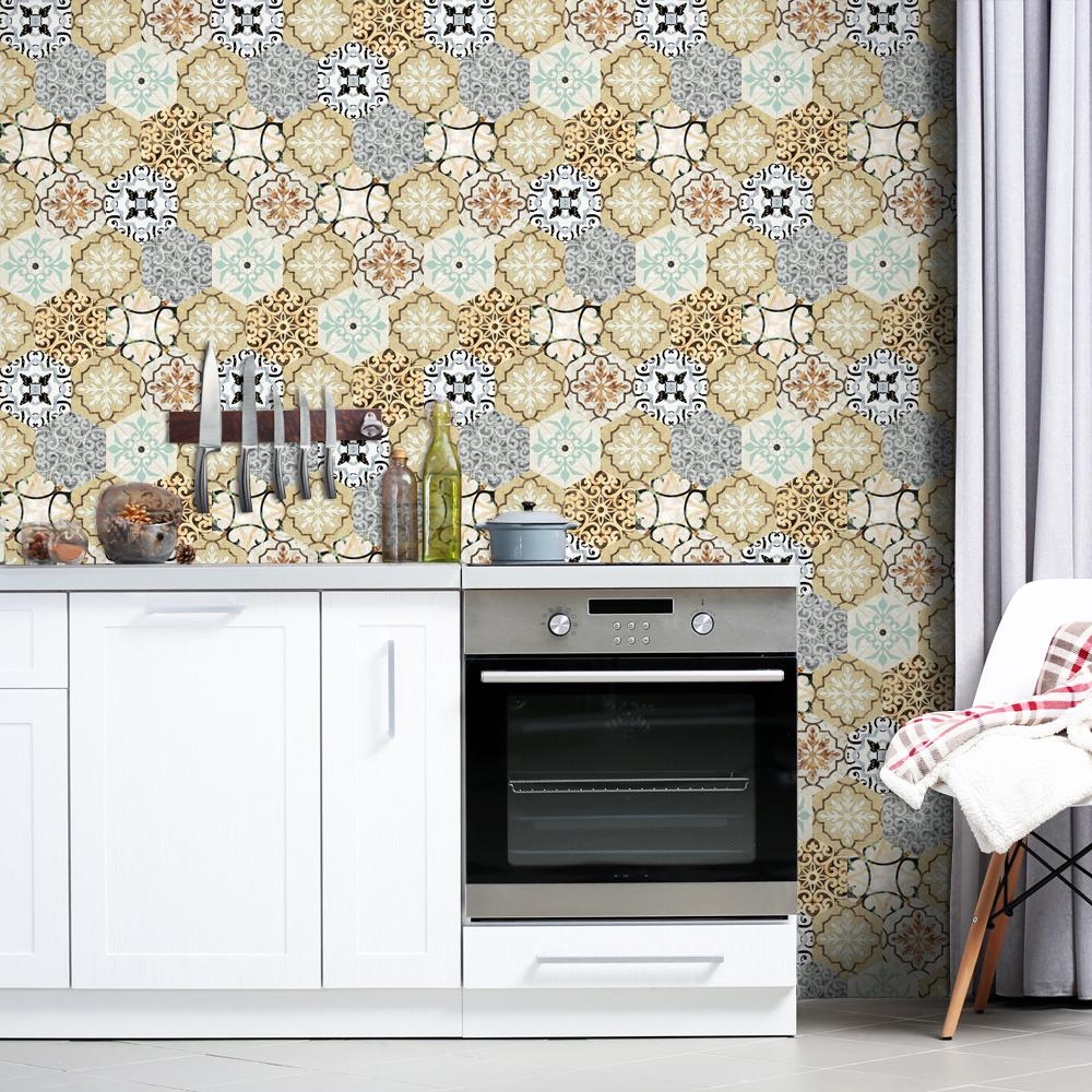 keuken tegels stickers : Pgts018 Verwijderbare Waterdichte Hexagon 3d Pvc Keuken Tegel