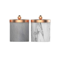Soy wax filled in concrete jar home decoration cement christmas candle holder