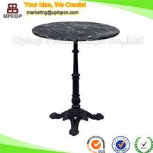 (SP-RT114) Muebles de estilo turco comedor redonda mesa de hierro forjado y tapa de mármol en los muebles