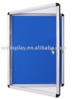 Lockable poster cases and noticeboard