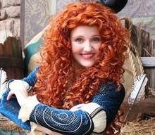Women Long heat Resistant Curly Wavy Glamour Hair Wig Fashion Brave Merida Cosplay Wig