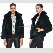 ~~ New Arrival ~~ YR-863 Sheared Rabbit Fur and Fox Belly Fur Jacket
