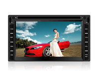 6.2 inch double din car dvd player with GPS/ big front USB/ front AUX in