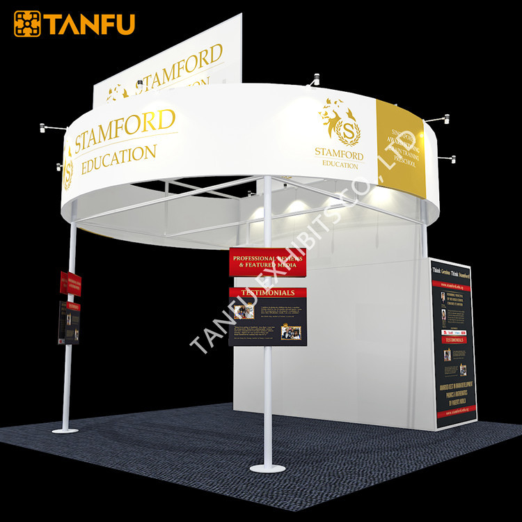 Exhibition Booth Banner : Tanfu circle banner trade show exhibition booth
