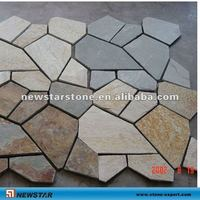 irregular shaped slate pavers