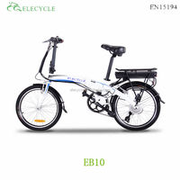 ELECYCLE mini folding/foldable pocket electric bike high speed with samsung lithium battery, 7 speeds,kenda tire