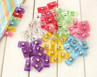 1000pcs PVC Plastic Clips For Patchwork Sewing DIY Crafts, Quilt Quilting Clip 3.5*1.8CM DHL Freeshipping