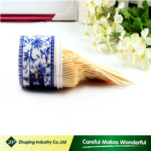 ZHUPING Plastic Tube Packing Mint Bulk Bamboo Toothpicks Suppliers