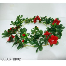 Hot sale artificial plants flower rattan /leaf with flower garland for home decoration