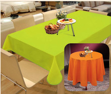 round solid oxford table cloth with waterproof
