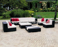 waterproof cushion Exclusive Rattan Sectional sofa Outdoor Garden sofa furniture
